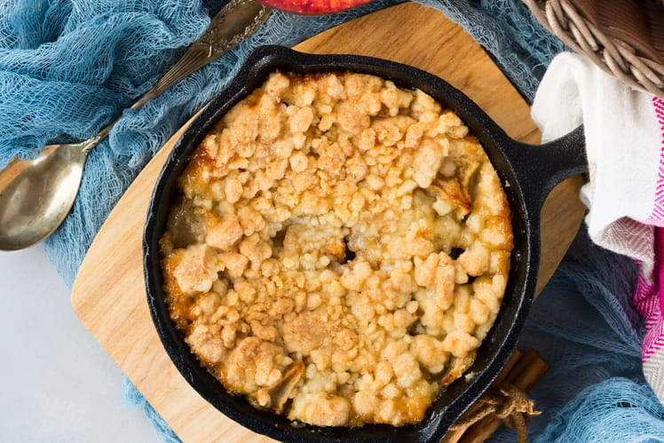 Crumble aux pommes et beurre salé