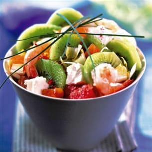 salade nordique aux kiwis.