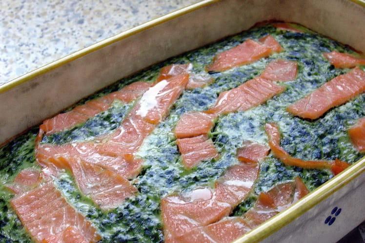 Flan d'épinards au saumon fumé