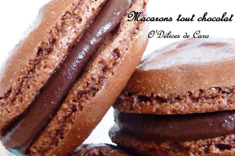 Macarons au chocolat classiques