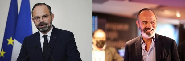 Evolution de la barbe d'Edouard Philippe entre 2019 et 2021