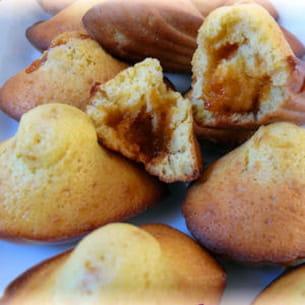 madeleines verveine, coeur de caramel salé