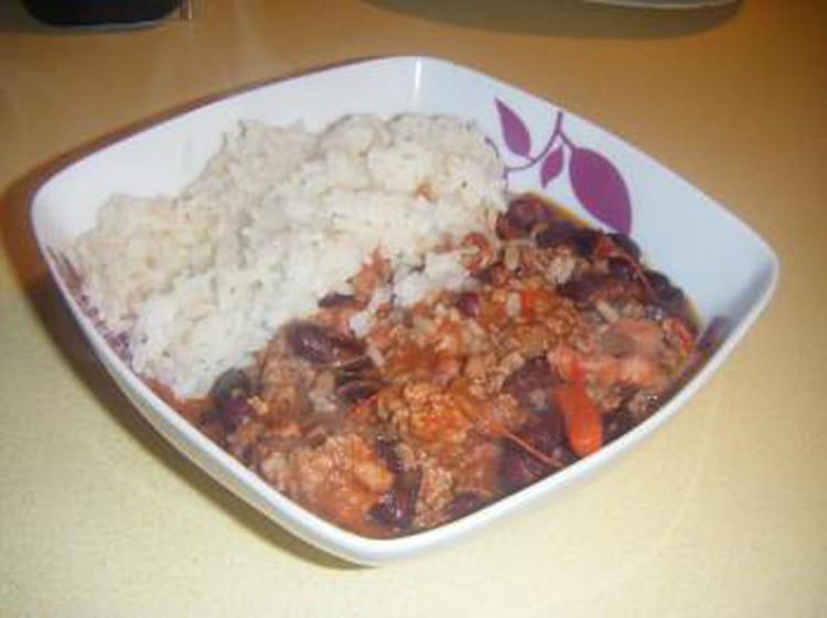 Recette de chili con carne g n reux la recette facile - Recette chili cone carne thermomix ...