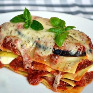 lasagnes aux aubergines et mozzarella
