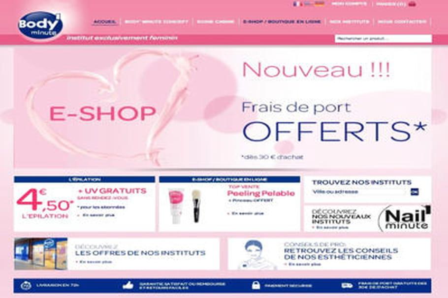 Body'Minute inaugure sa boutique en ligne