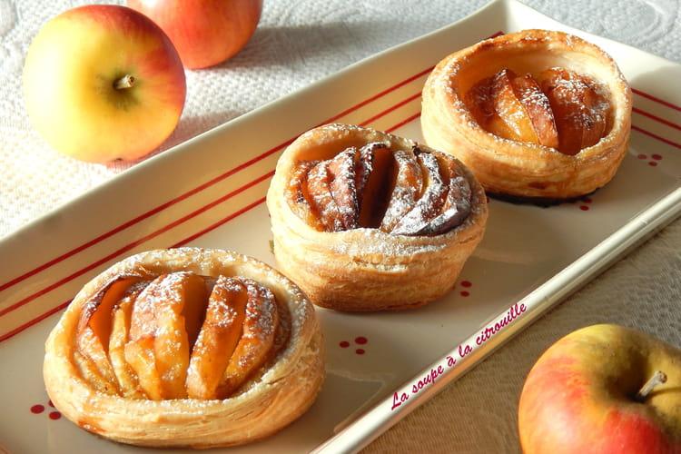 Tartelettes feuilletées aux pommes et au miel