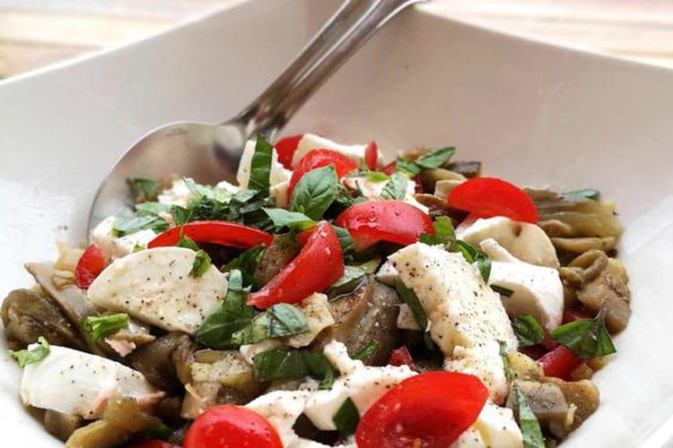 Salade d'aubergines à la vapeur douce