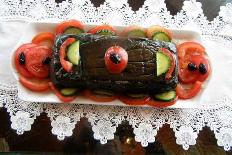 Cake aux aubergines (cuisson vapeur)