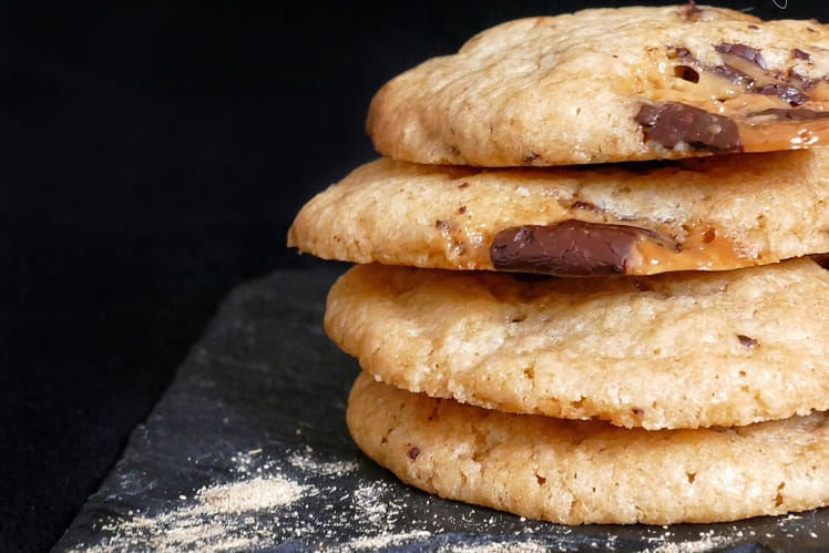 Biscuits chocolat caramel et réglisse