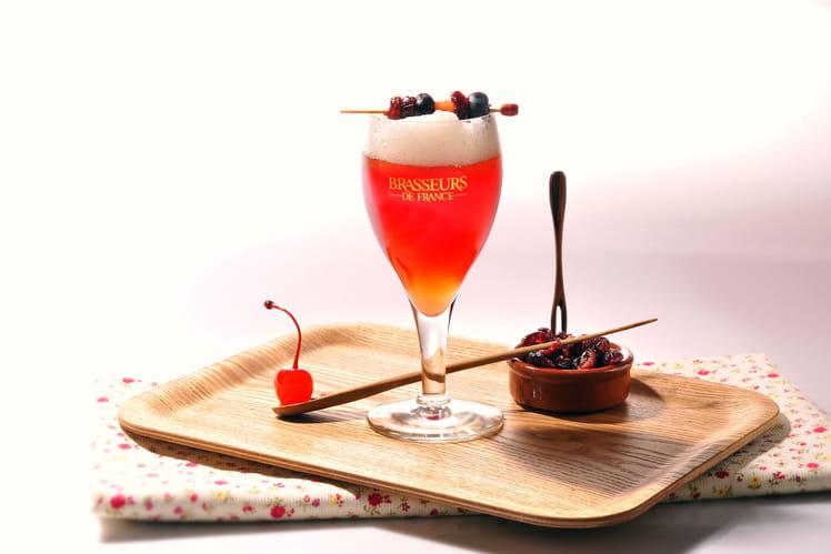 Cocktail Bière de Printemps, cranberry façon Baie d'Orient