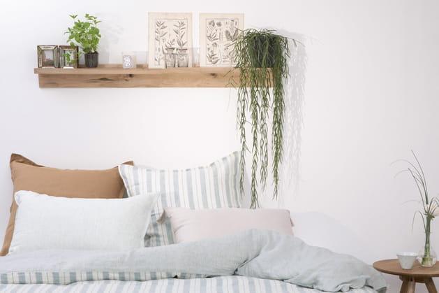 Parure de lit en lin rayéGabrielle Paris