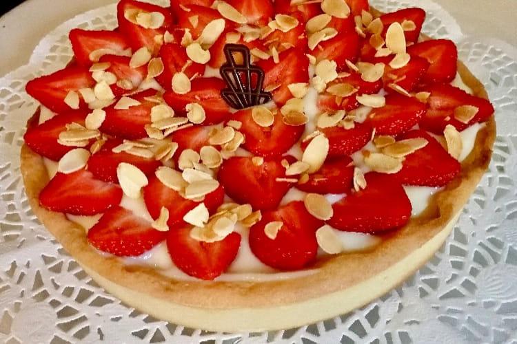 Tarte aux fraises et sa pâte sablée à l'amande