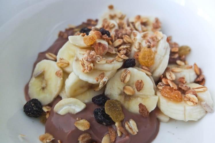 Crème chocolat banane céréales