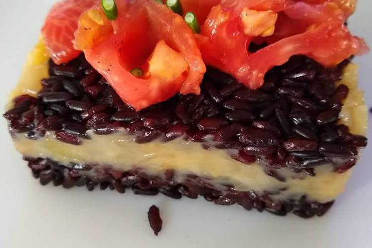 Riz noir et compotée d'oignons Yassa