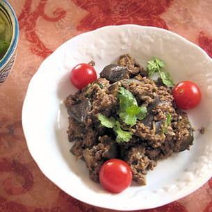 masala boeuf-agneau aux aubergines