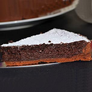tarte fondante tout chocolat