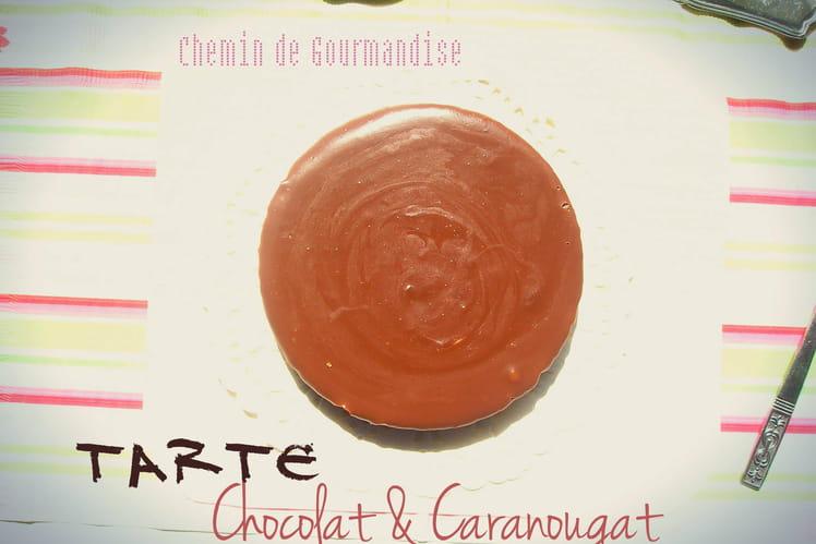 Tarte chocolat au lait & caranougat