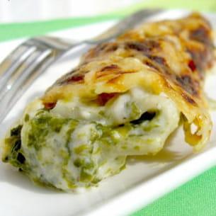 cannellonis ricotta-épinards
