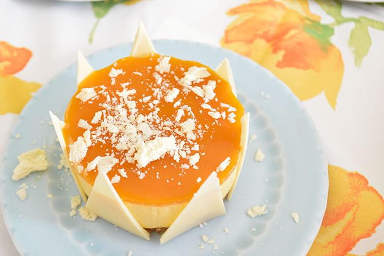 Mini entremets mangue, passion et chocolat blanc