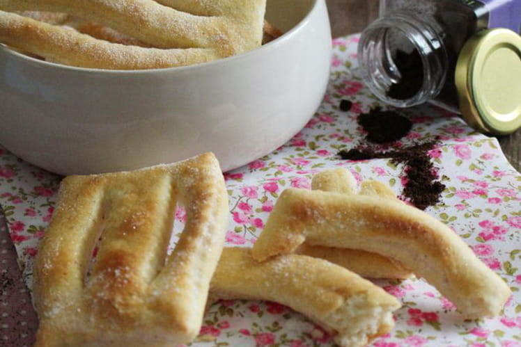Bugnes vanille au four