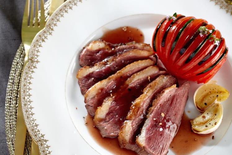 Magret de canard et son tian provençal