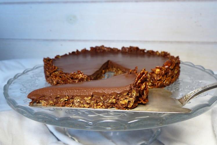 Tarte au chocolat vegan et sans gluten
