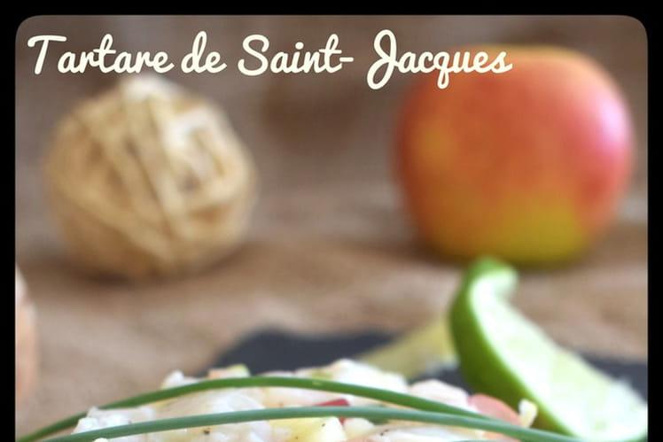 Tartare de Saint-Jacques aux grenades et pommes granny