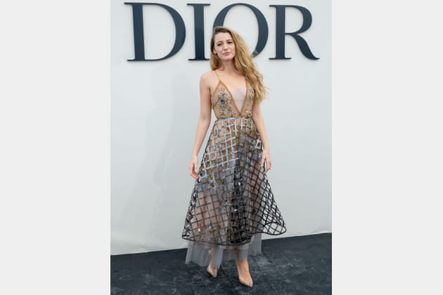Blake Lively au défilé Christian Dior