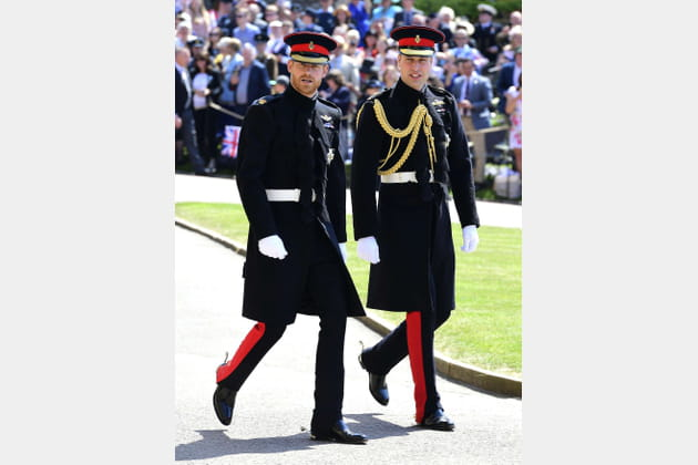 Le prince Harry et le prince William, en chemin