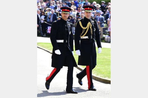 Le prince Harry et le prince William, en chemin