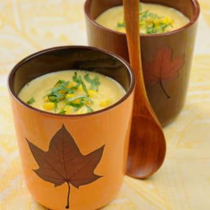 potage au lait de maïs