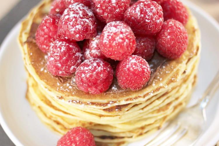 Pancakes framboises & Nutella