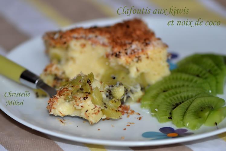 Clafoutis aux kiwis et noix de coco