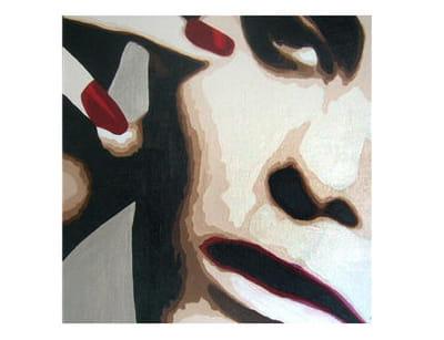 tableau 'les ongles rouges' de lady caviar chez decogalerie