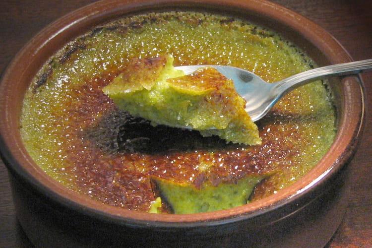 Crème brûlée à la pistache