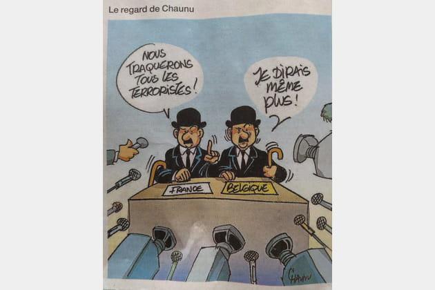 Chaunu pour Ouest France publiait le matin même ce dessin...