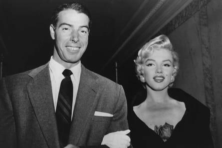 Au bras de Joe DiMaggio