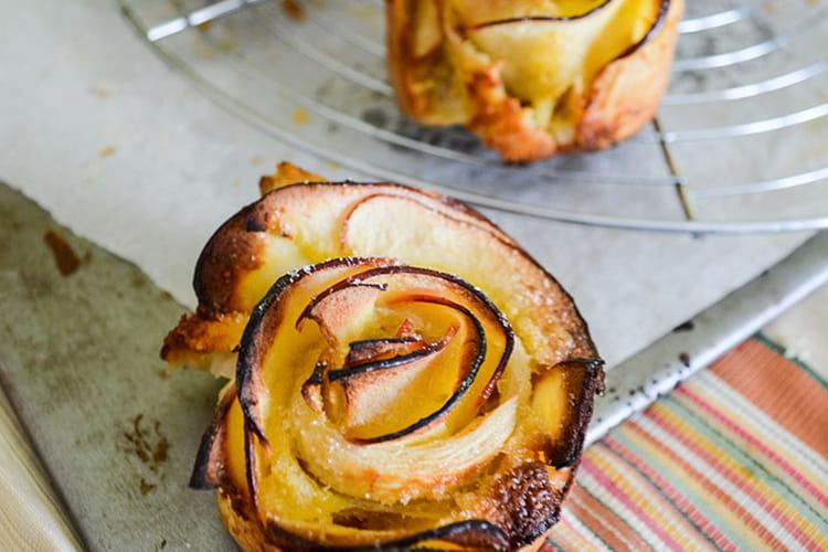 Roses des rois aux pommes et à la crème d'amandes