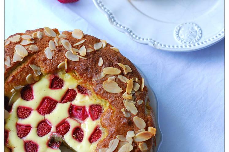 Amandier façon cheesecake aux fraises sans sucre