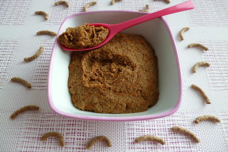 Gâteau cru végan au Yannoh avec céréales de son de blé et psyllium