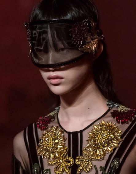 Le masque futuriste du défilé Gucci