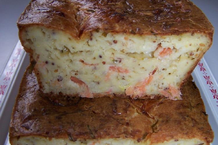 Cake fraîcheur au saumon et concombre