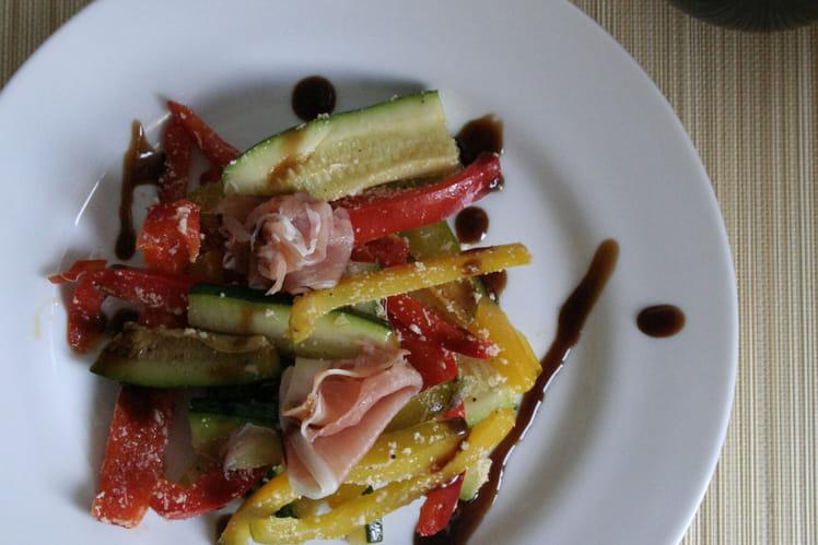 Salade croquante et jambon Serrano