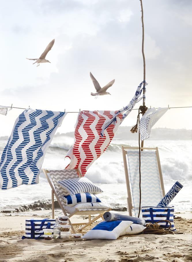 Serviette de plage sommar d 39 ikea sur ma serviette de for Serviette de plage carre blanc