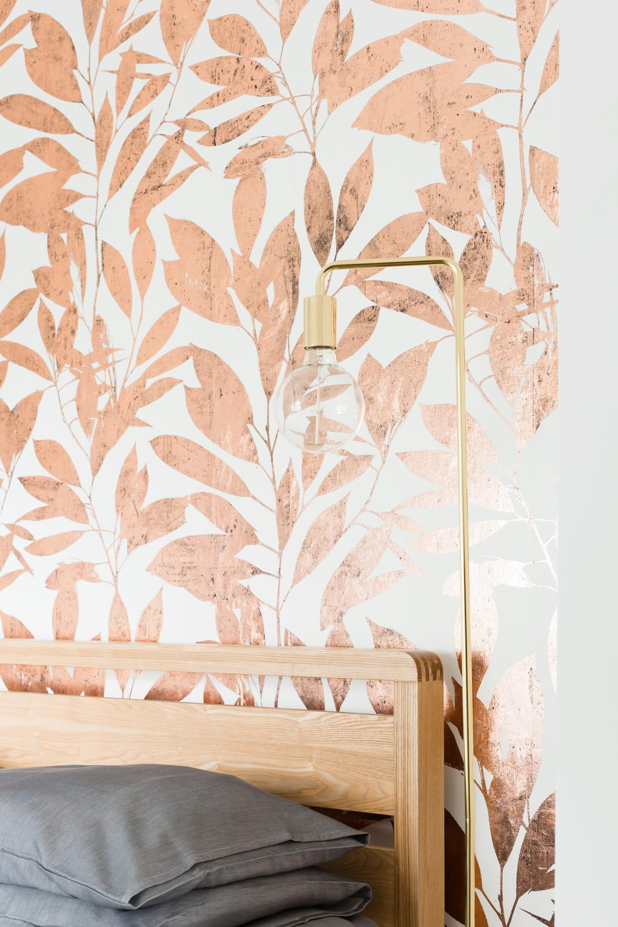 Un papier peint cuivr - Quel papier peint pour salon ...