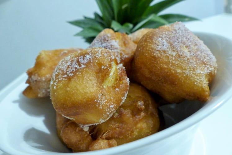Beignets d'ananas à la vanille