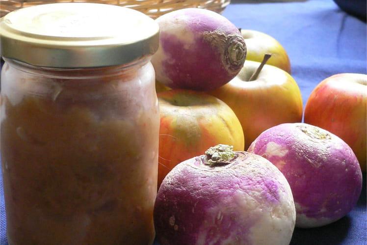 Compotée de navets aux pommes et sésame