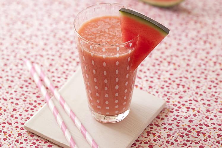 Smoothie onctueux au melon, pastèque et polenta
