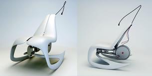 une dynamo adaptée à un fauteuil à bascule, il fallait y penser...