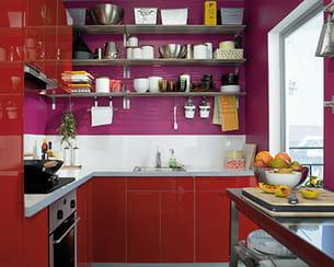 Une cuisine aux teintes joyeuses - Cuisine abstrakt ikea ...
